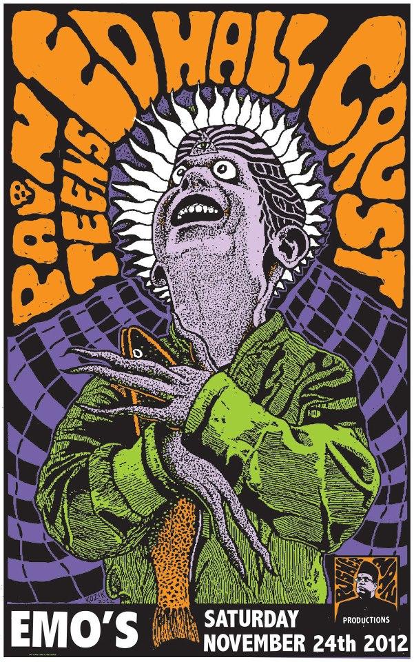 kozik Pain Teens, Ed Hall and Crust - Austin, TX 2012