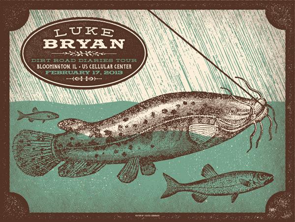 status serigraph Luke Bryan - Bloomington, IL 2-17 2013