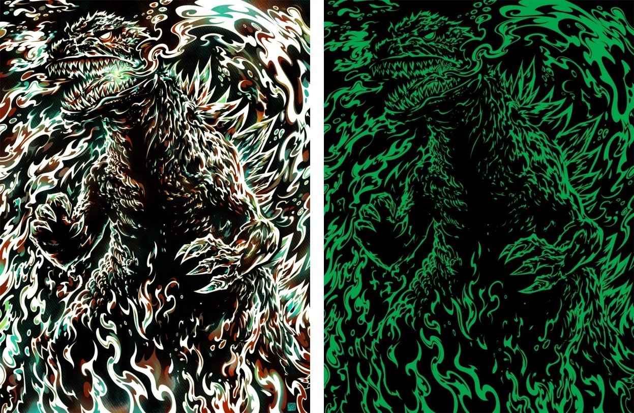 bottleneck gallery when the lights go out Miles-Tsang-Godzilla 1