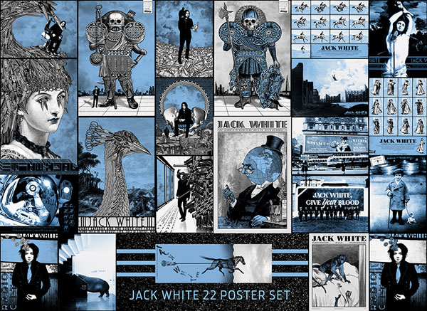 jones Jack White 2012 Poster Set