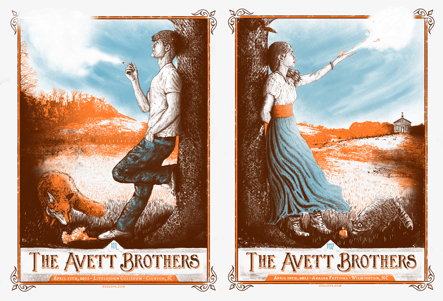 love the avett brothers Clemson, SC & Wilmington, NC 2013 variant