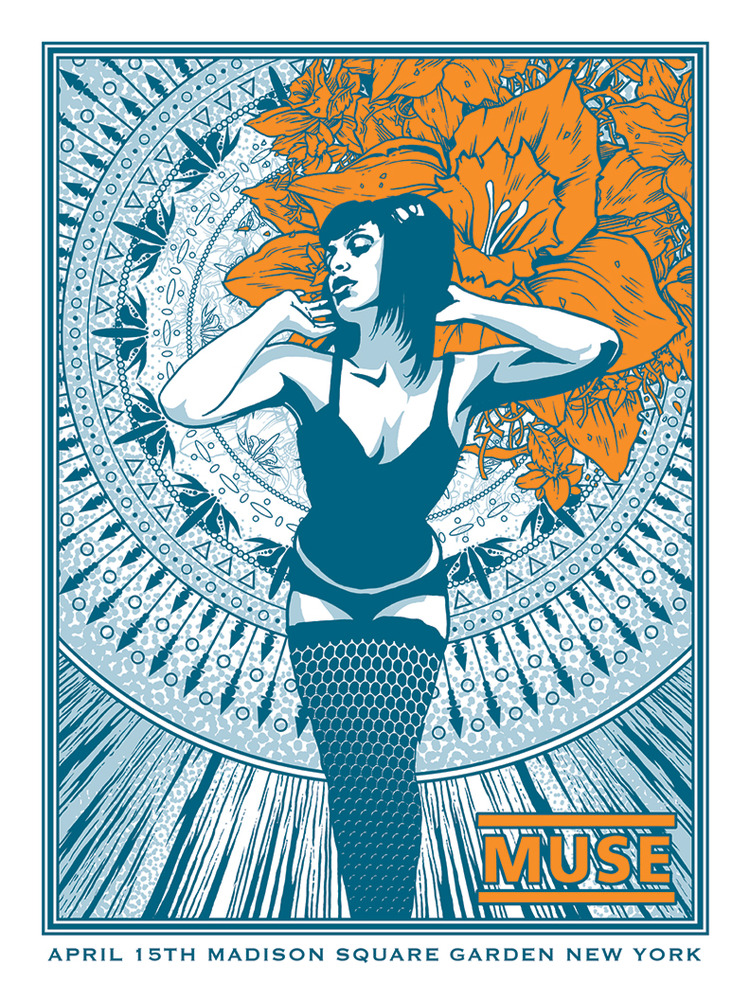 Muse Gig Posters By Brian Mercer