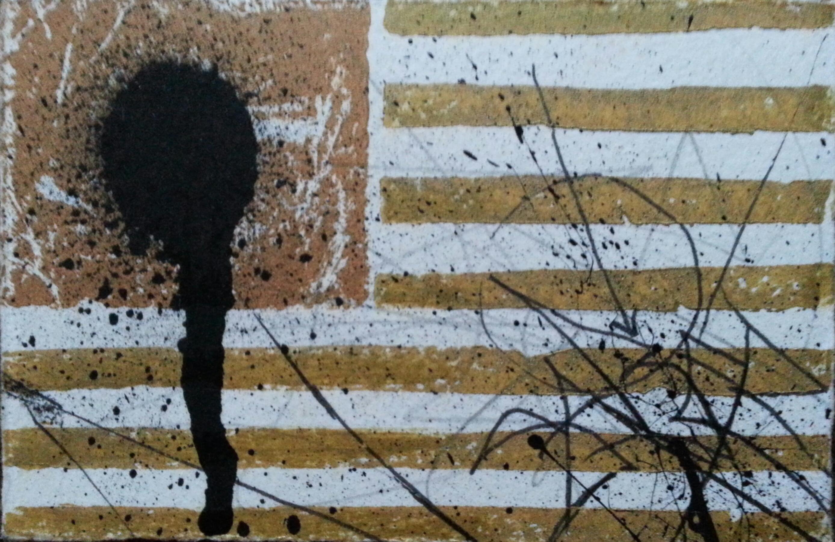 saber gold flag