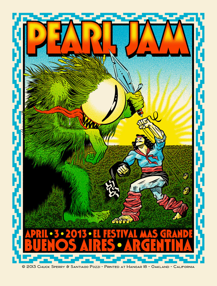 sperry Pearl Jam - Buenos Aires 2013