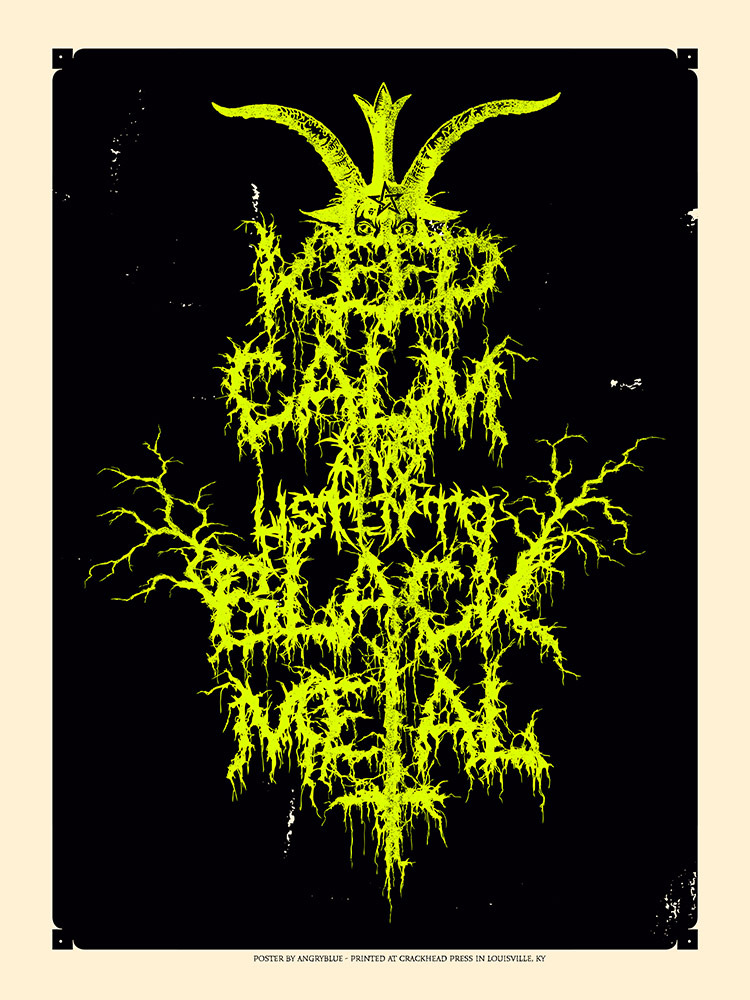 angryblue Keep Calm & Listen to Black Metal