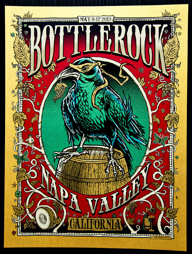 zoltron Bottlerock - Napa Valley, CA 2013 gold