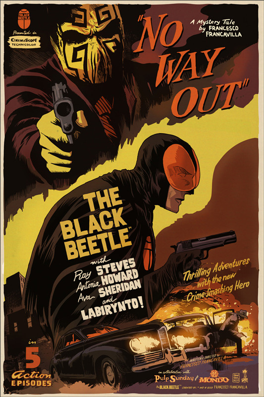 Francavilla the black beetle