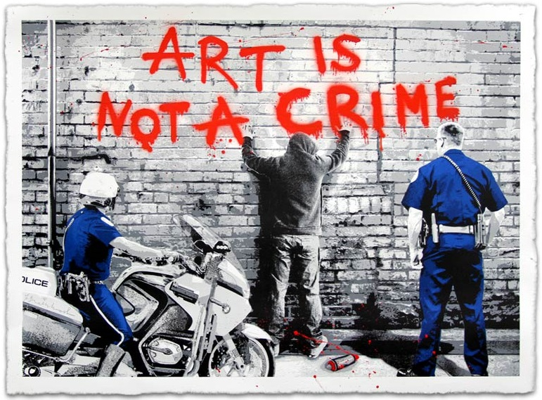 mr brainwash art is not a crime