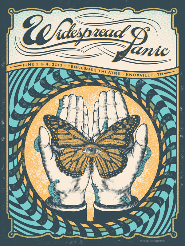 status serigraph Widespread Panic - Knoxville, TN 2013