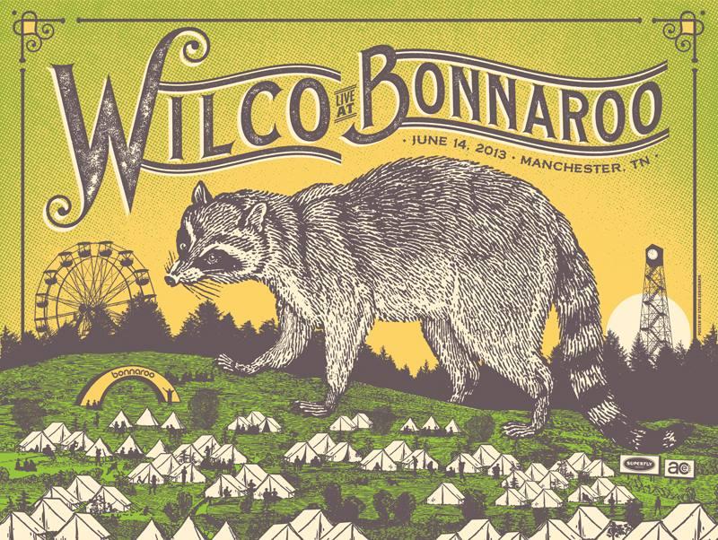 status serigraph Wilco - Manchester, TN 2013