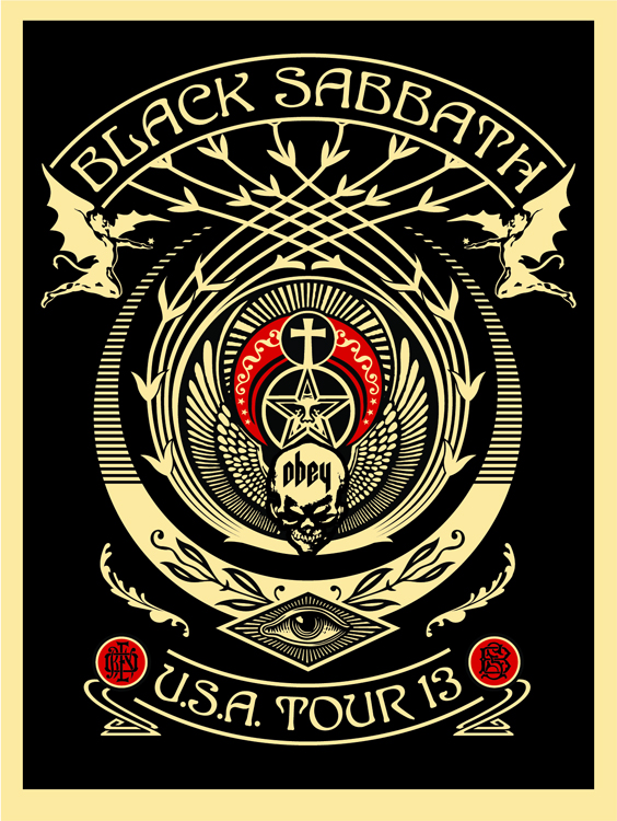 fairey Black Sabbath 2013 Tour Red Black Crescent