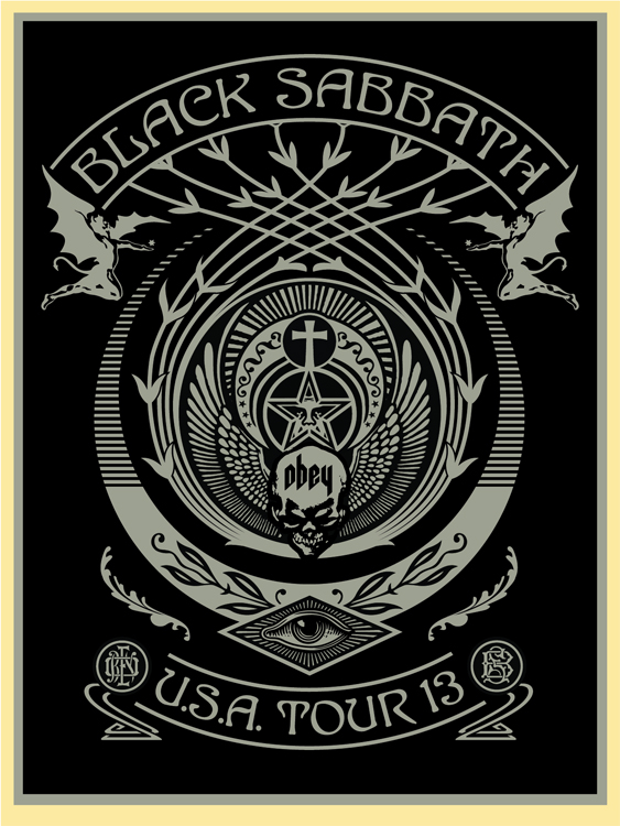 fairey Black Sabbath 2013 Tour Silver Black Crescent