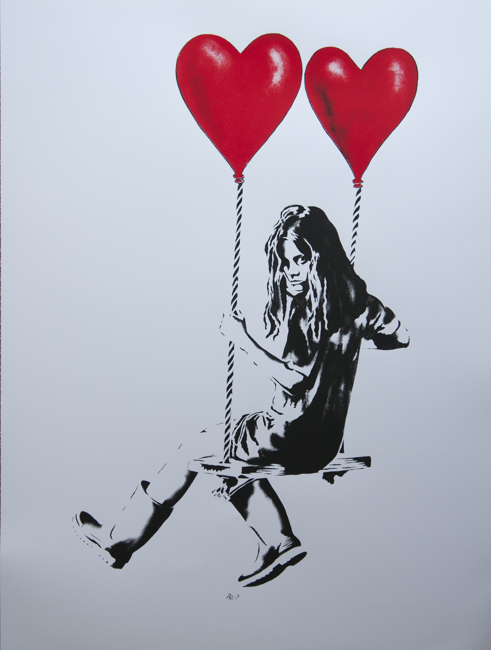 jps Girl On A Swing With Balloons