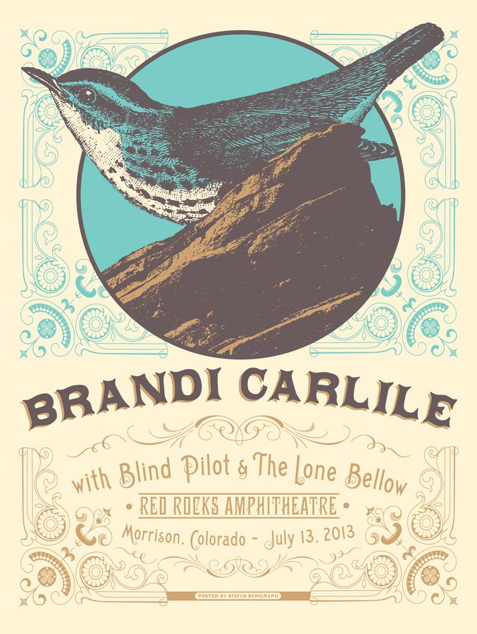 status serigraph Brandi Carlile morrison co 2013