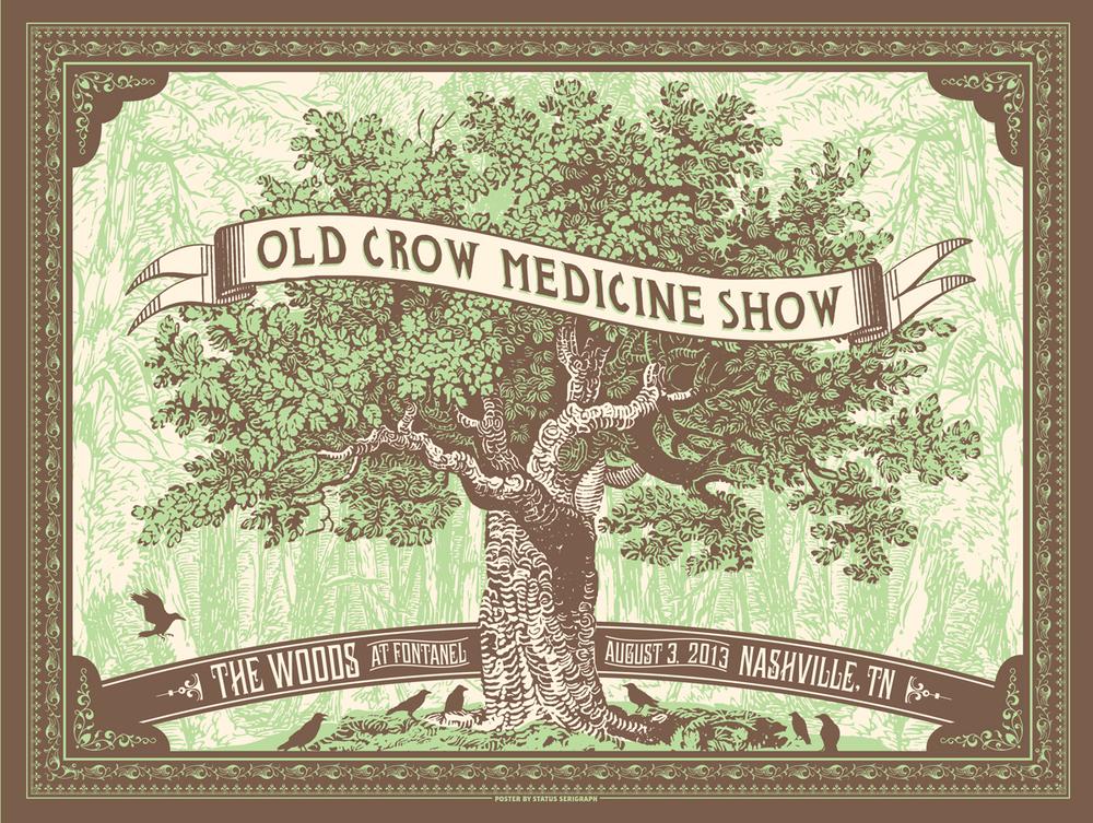 status serigraph Old Crow Medicine Show - Nashville, TN 2013