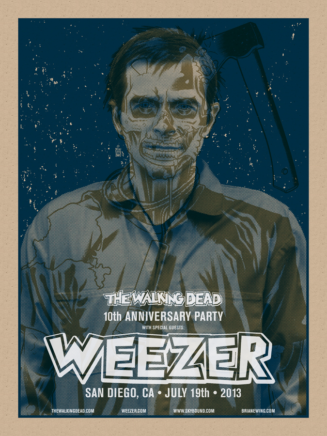ewing Weezer & The Walking Dead - San Diego, CA 2013