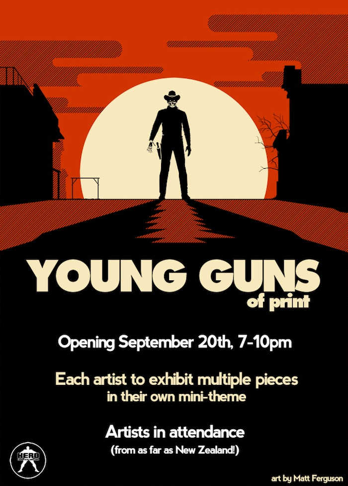 hero complex gallery young guns of print