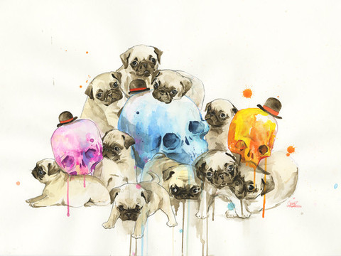 zombie puppies and skulls