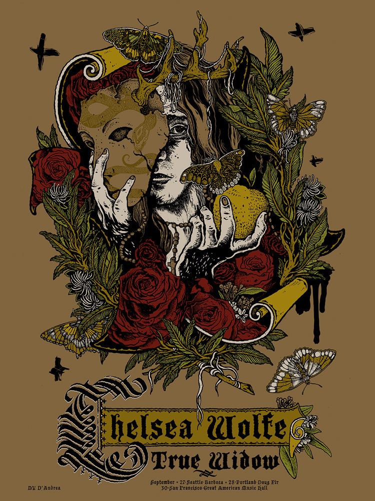 d'andrea Chelsea Wolfe x True Widow US tour 2013