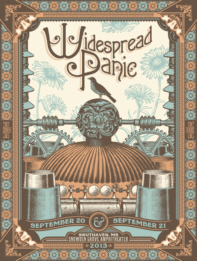 status serigraph widespread panic Southaven, MS 2013 copper