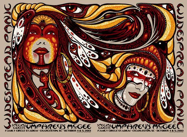 wood Widespread Panic + Umphrey's McGee - Charleston, SC 2013
