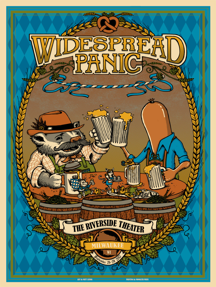 leunig Widespread Panic - Milwaukee, WI 2013 gold