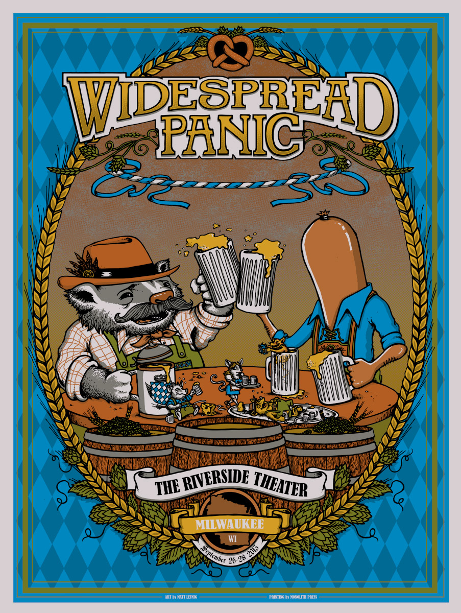 leunig Widespread Panic - Milwaukee, WI 2013 silver