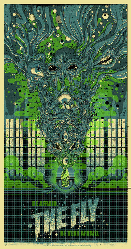 "Poster by Drew Millward. 18""x34"" screen print. Hand numbered. Edition of 225. Printed by D&L Screenprinting. $40"