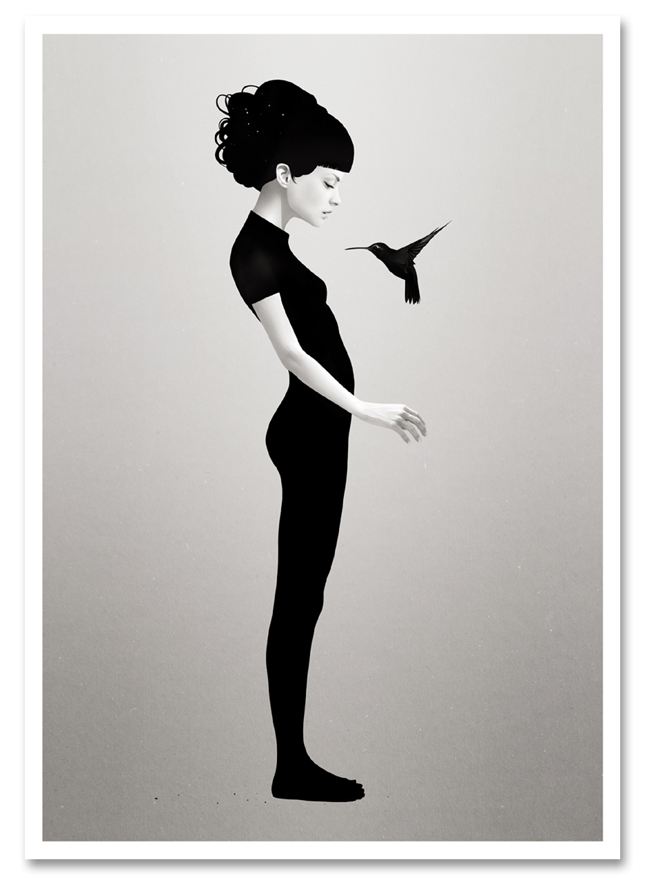 """Let You Be"" by Ruben Ireland.  12"" x 17"" Giclee.  Ed of 25 S/N.  $35 unframed : $135 framed"