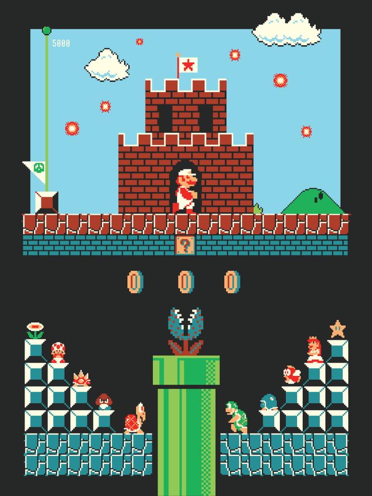 elam Super Mario Bros Level One