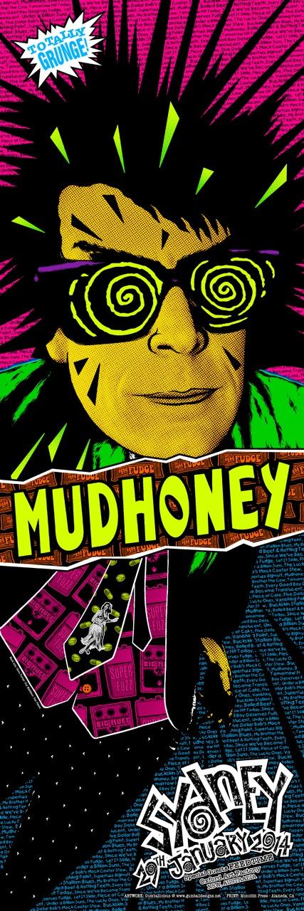 gumball designs Mudhoney - Sydney, Australia 2014