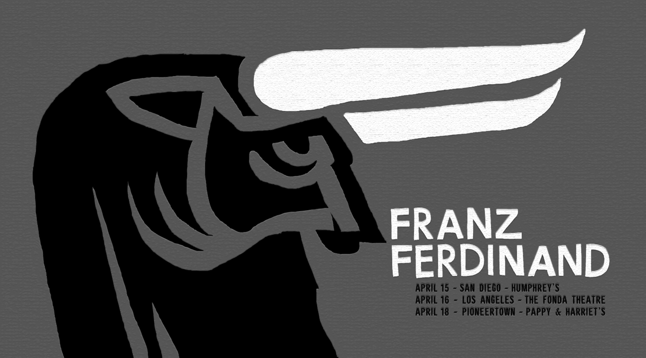 """Franz Ferdinand - California 2013"" by Kii Arens.  26"" x 15"" Screenprint.  Ed of 50 S/N.  $40"