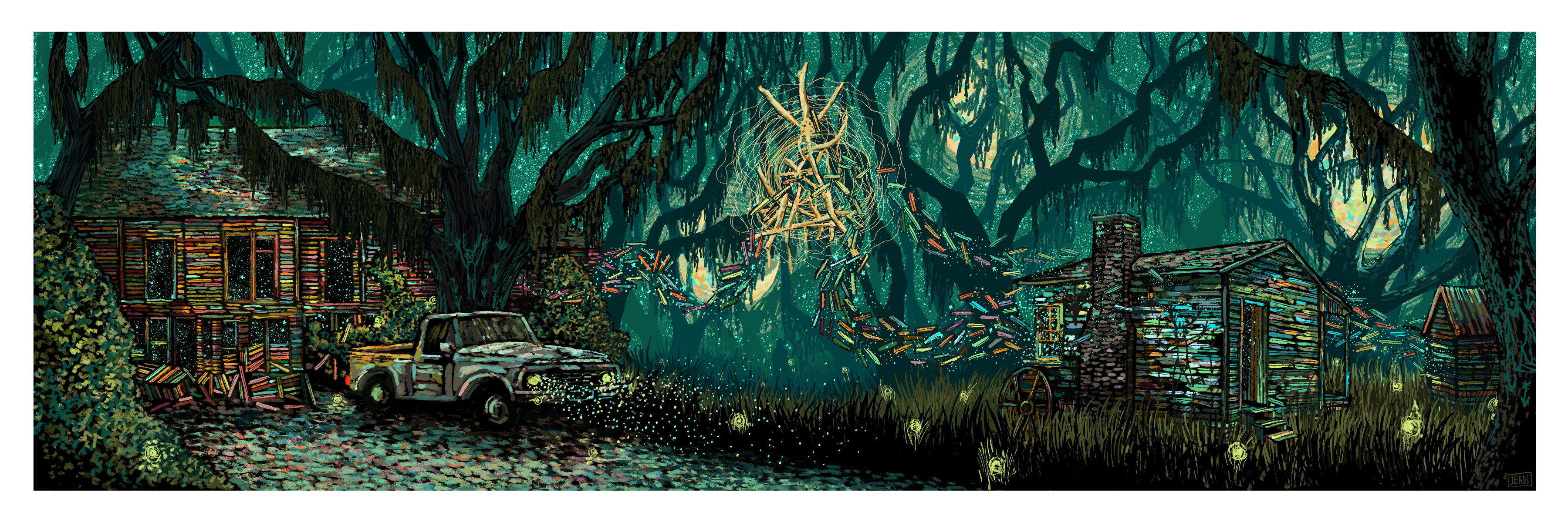 """All Around Us, Everywhere"" by James R Eads.  12"" x 36"" Giclee.  Timed edition S/N.  $40"