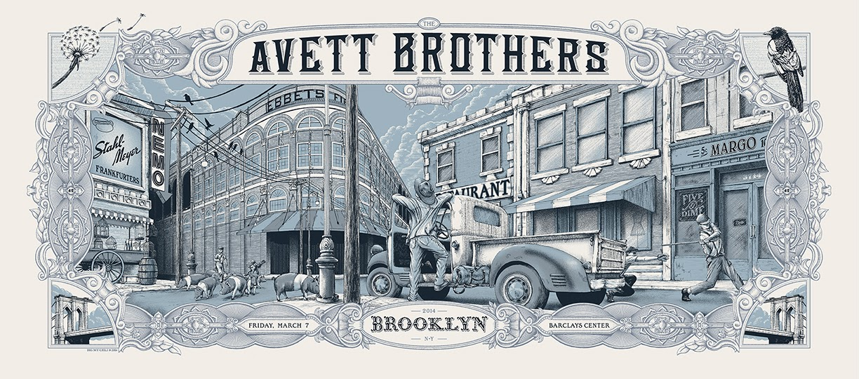 dig my chili The Avett Brothers - Brooklyn, NY 2014 variant