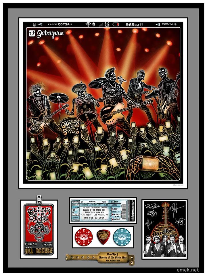 emek Queens of the Stone Age - Las Vegas, NV 2014