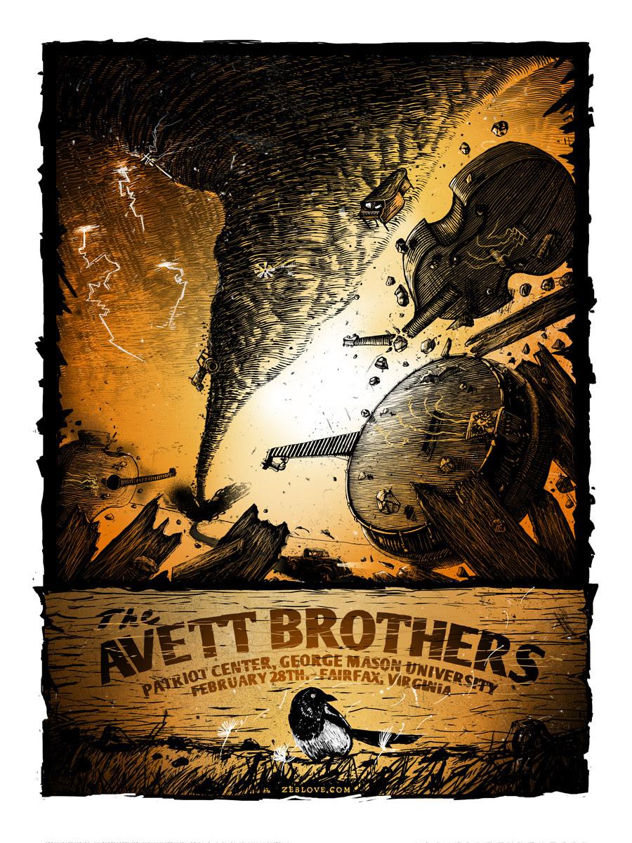 love the avett brothers Fairfax, VA 2014