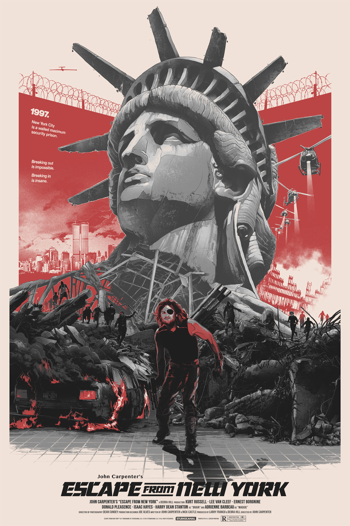 "Escape From New York Movie Poster 13x20/"" 20x30/"" 24x36/"" Art Print"
