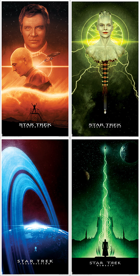 "Star Trek by Matt Ferguson.  (4) 12"" x 24"" Lithographs.  $25 each : $85 set"