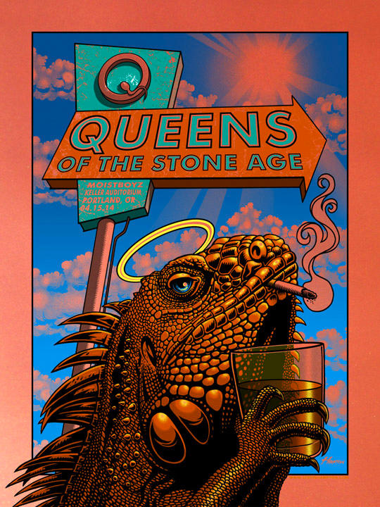 hampton Queens of the Stone Age - Portland, OR 2014 copper