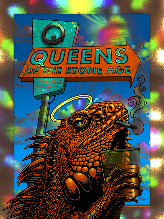 hampton Queens of the Stone Age - Portland, OR 2014 holographic foil
