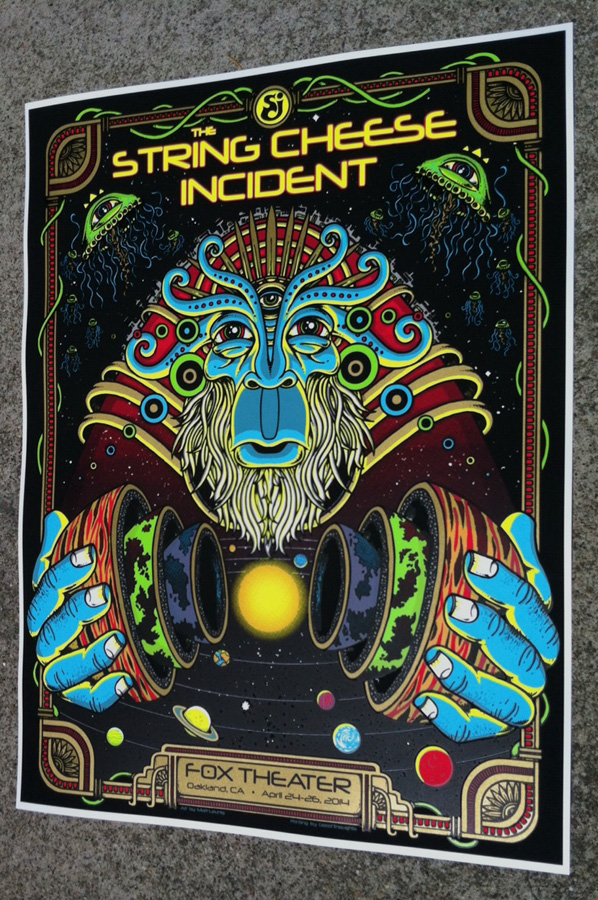 leunig The String Cheese Incident - Oakland, CA 2014 1
