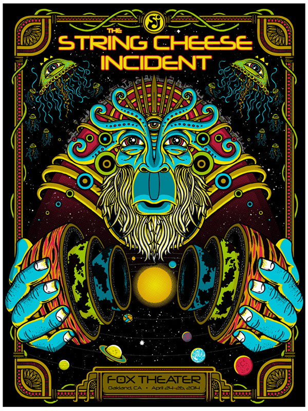 leunig The String Cheese Incident - Oakland, CA 2014
