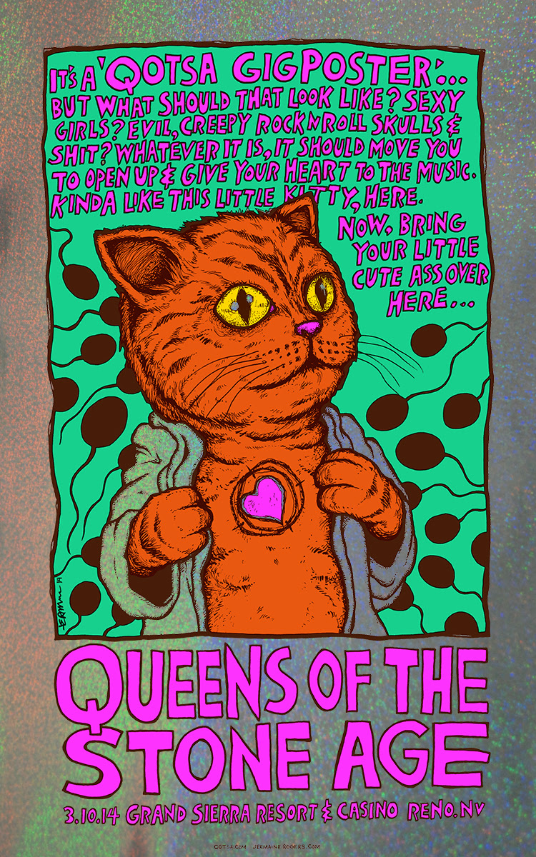 rogers Queens of the Stone Age - Reno, NV 2014 sparkle foil