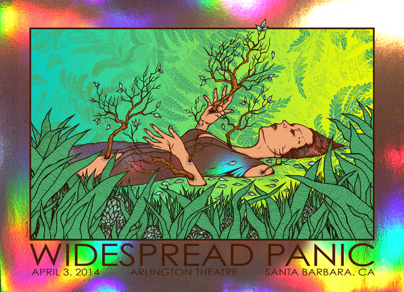 rogers-Widespread-Panic-Santa-Barbara-CA-2014-holographic-foil
