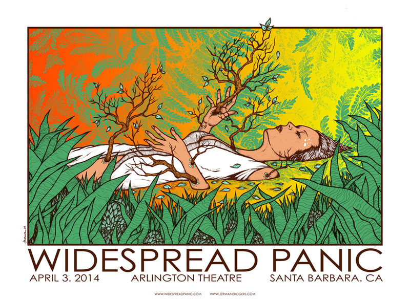 rogers Widespread Panic - Santa Barbara, CA 2014