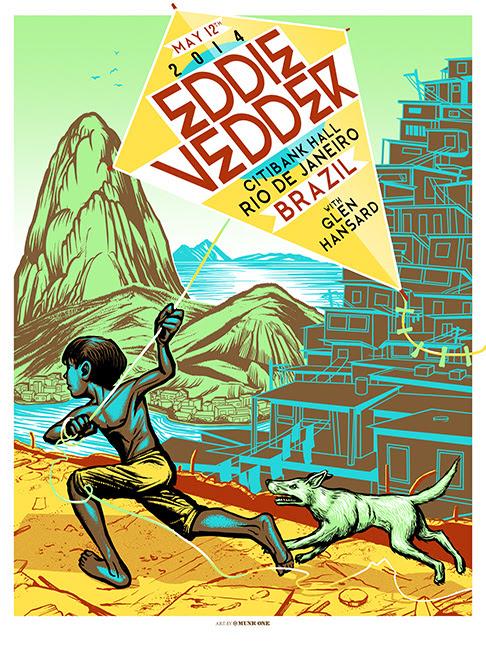 munk one Eddie Vedder - Rio De Janeiro, Brazil 2014
