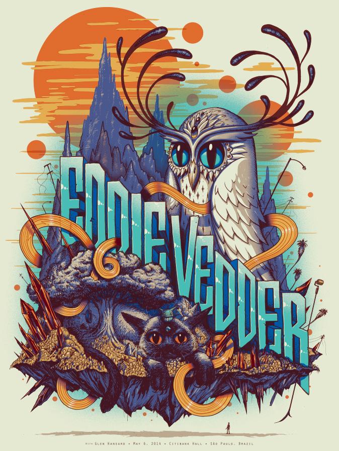 soto Eddie Vedder - Sao Paulo Brazil 2014