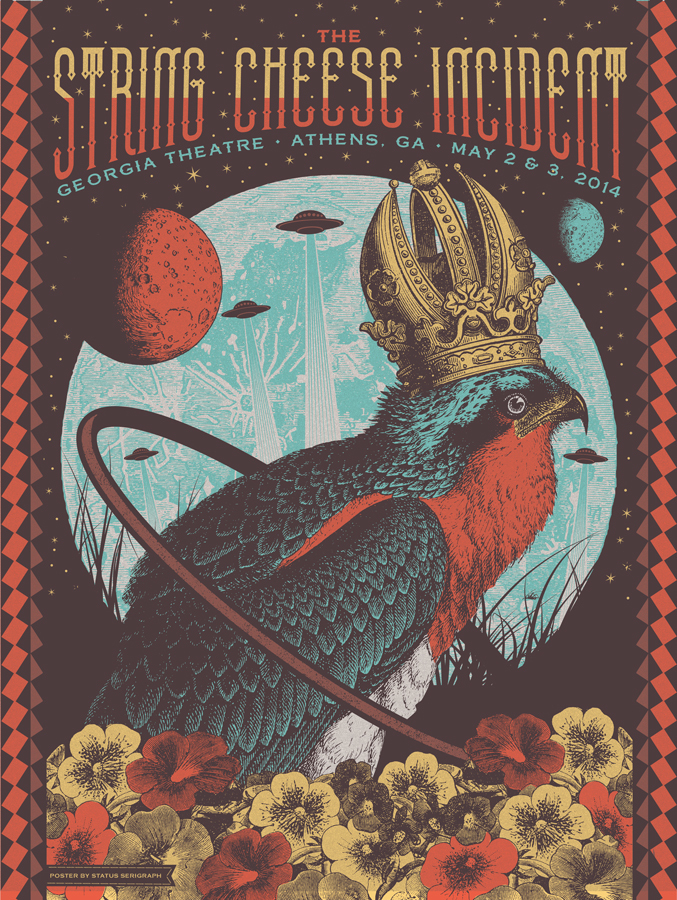 status serigraph The String Cheese Incident - Athens, GA 2014 variant