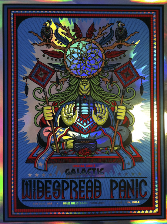 leunig Widespread Panic - Boston, MA 2014 foil