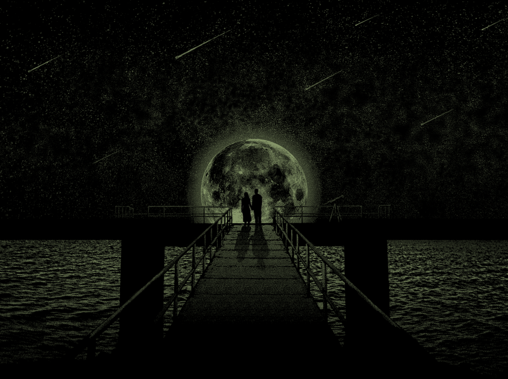 Image in the dark for both gig poster and art print